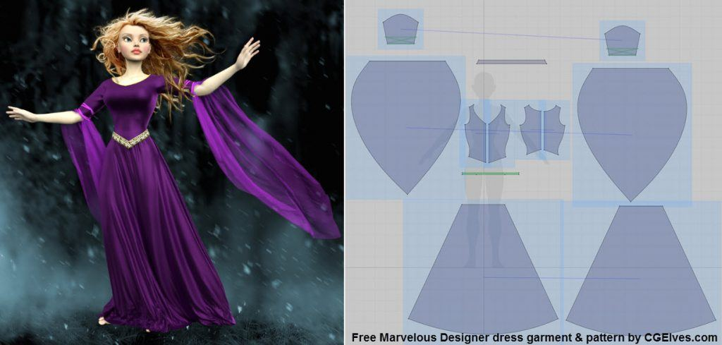 Marvelous Designer Dress Sewing Pattern by Camille Kleinman