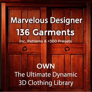 Marvelous Designer Garment Files Library