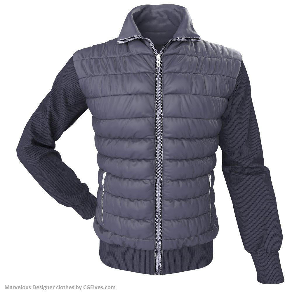 Marvelous Designer Jacket Long Sleeves