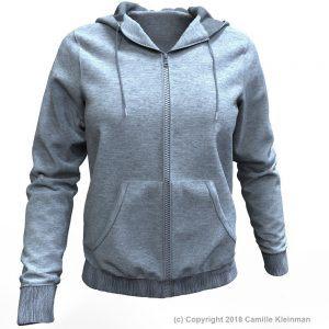 Marvelous Designer Sweatshirt Hoodie Garment File by Camille Kleinman